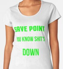 Save Point Funny Video Gamer T-shirt Women's Premium T-Shirt