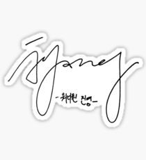 bae jinyoung signature Sticker