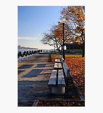 Saint Clair Boardwalk in Fall 10 Photographic Print
