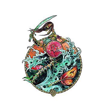 Mermaid warrior by Nynrafa