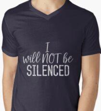 Unsilenced (light text) Men's V-Neck T-Shirt