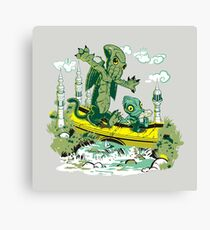 DAGONIN AND CTHULOBBES Canvas Print