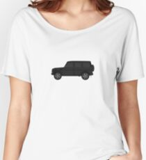 Mercedes-Benz  G Wagon - side black Women's Relaxed Fit T-Shirt