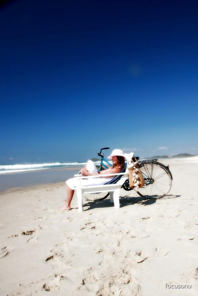 Enjoying life at the beach by focusonu