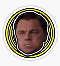 Leonardo DiCaprio as Jordan Belfort in The Wolf of Wall Street Sticker