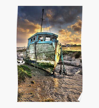 Old Boat at Sunderland Point Poster