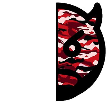 Japanese Dizzy (Red Camo) (For Dark Tees) by Brotherhood410
