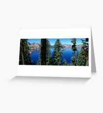 Crater Lake National Park- green view Greeting Card