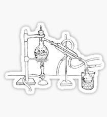 Distilation Apparatus (India Ink) Sticker