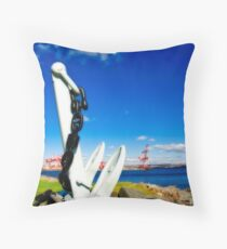 Anchored in Halifax Throw Pillow