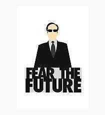 The Matrix - Agent Smith - Fear The Future Photographic Print