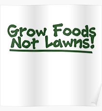 Grow food now lawns Poster