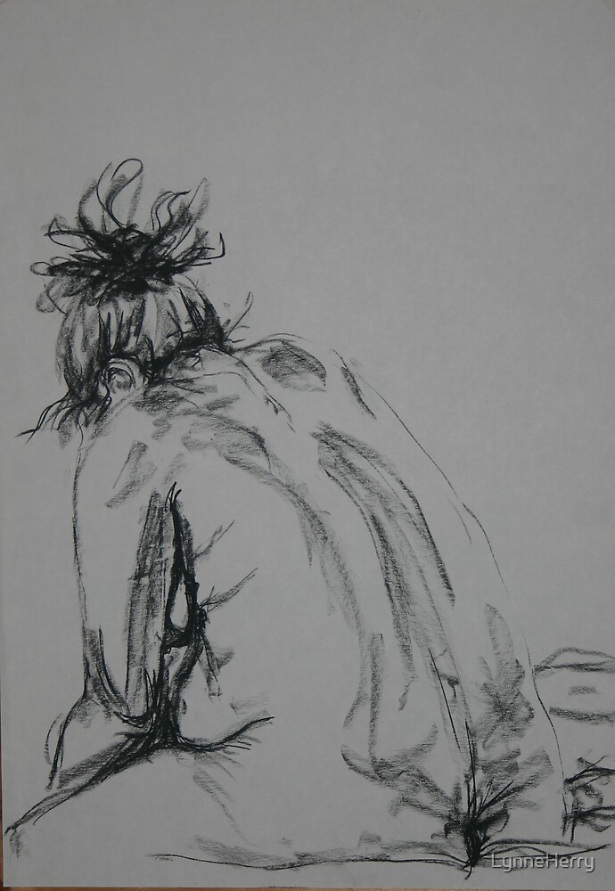 Seated Nude 2 by LynneHerry