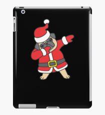 Dabbing Santa Christmas Pug T Shirt iPad Case/Skin