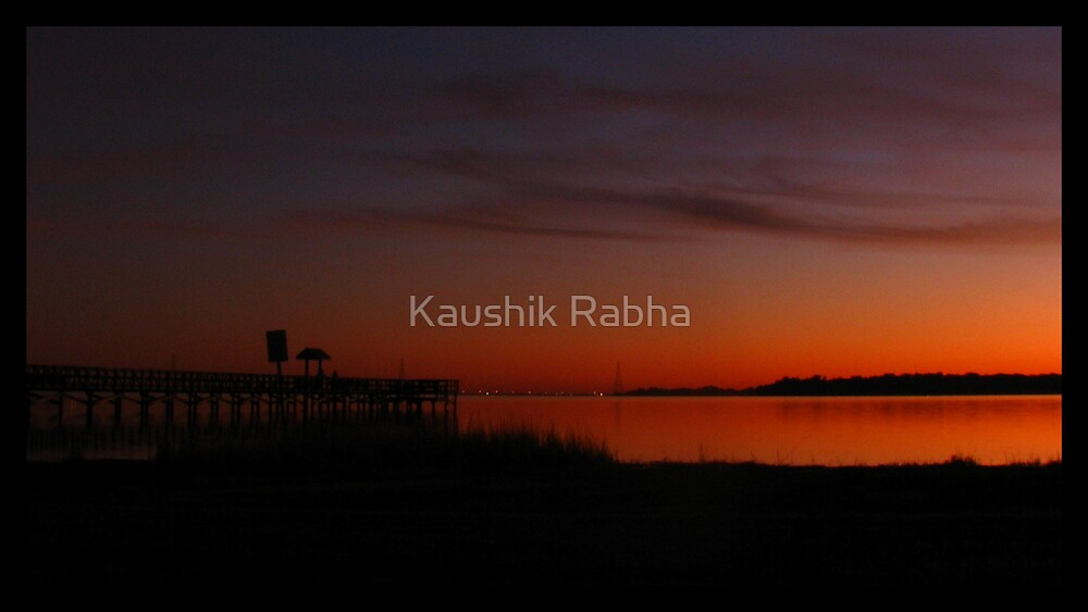 Sunset at Tampa Bay by Kaushik Rabha