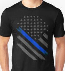 Dünne blaue Linie Flag Tactical Officer Slim Fit T-Shirt
