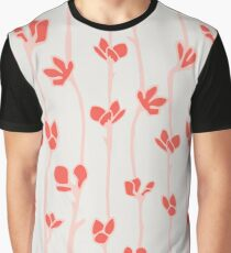 Aspire floral pattern in red Graphic T-Shirt