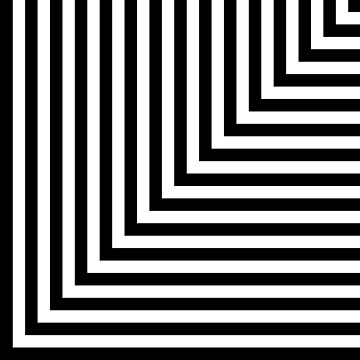 Black and White L Stripes  by pencilmein