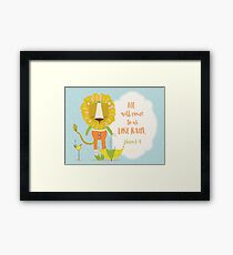 He Will Come to Us Like Rain Scripture Art Framed Print
