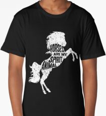 Horses Are My Spirit Animal Long T-Shirt