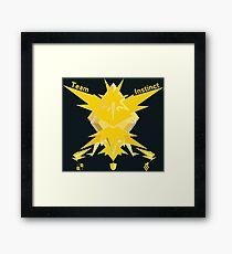 Team Instinct - Pokemon Go [Dark bkgd] Framed Print