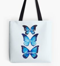 Everything On Purpose Butterfly Design Tote Bag