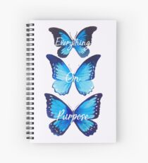 Everything On Purpose Butterfly Design Spiral Notebook