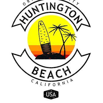 Huntington Beach California Surf by styleuniversal