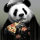 PANDA LOVES PIZZA by MEDIACORPSE
