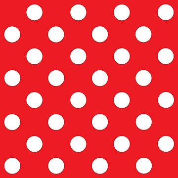 White on Red Polka Dots Design - pokerdots by TheCartoonHouse