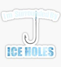 Ice Fishing Travel Fun Sticker