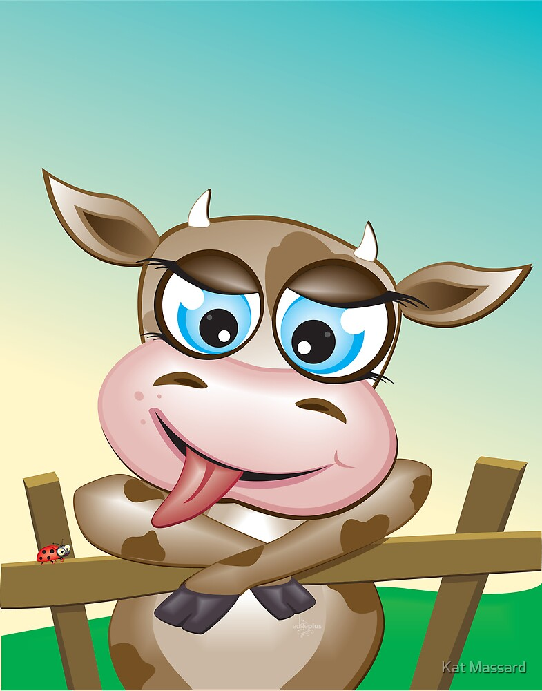 Critterz-Brown Cow - cheeky agnes by Kat Massard