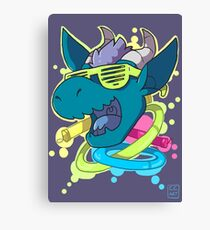 Rave Dragon Canvas Print