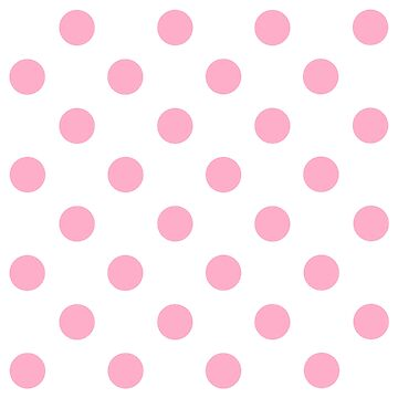Pink Polka Dot Design on White - Pokerdots by TheCartoonHouse