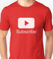 You Tube Abonnieren Play Button Videos VLoggers Live Stream Unisex T-Shirt