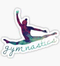 Gymnastics Rainbow Leap Silhouette Sticker
