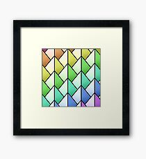 Multicolored Pyramid Pattern Framed Print