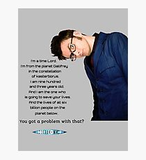 Tenth Doctor Quote Photographic Print