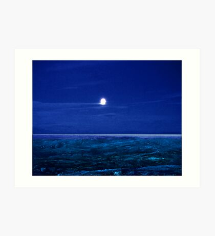 Baffin Island Moon Art Print