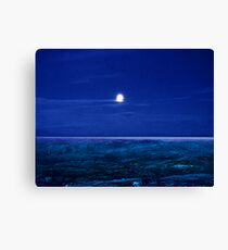 Baffin Island Moon Canvas Print