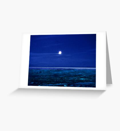 Baffin Island Moon Greeting Card
