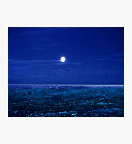 Baffin Island Moon Photographic Print