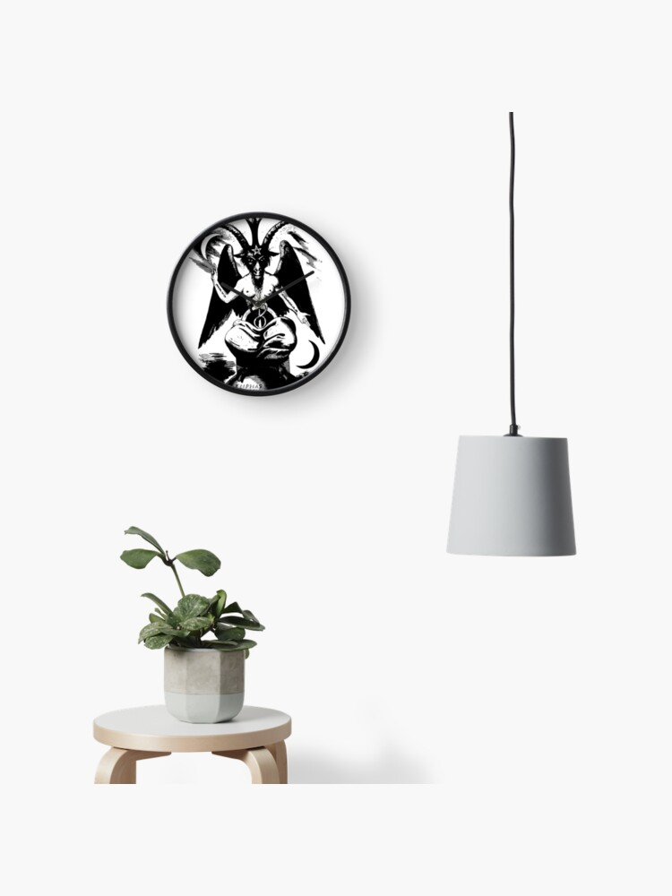 The Baphomet - The Sabbatic Goat (black shape)   Clock