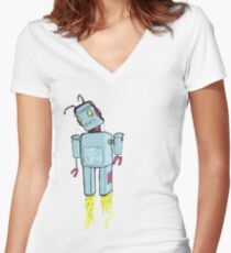 Scrap Metal Women's Fitted V-Neck T-Shirt
