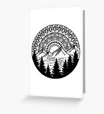 Mandala Mountain Greeting Card