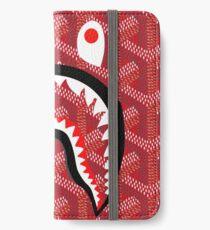 Goyard Shark Red iPhone Wallet/Case/Skin
