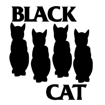 Black Cat T-Shirt by scaabs