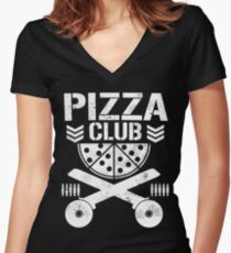 Pizza Club Fitted V-Neck T-Shirt