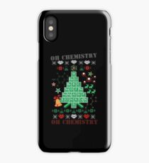 Oh Chemistree Chemistry Funny Ugly Christmas Sweater iPhone Case/Skin