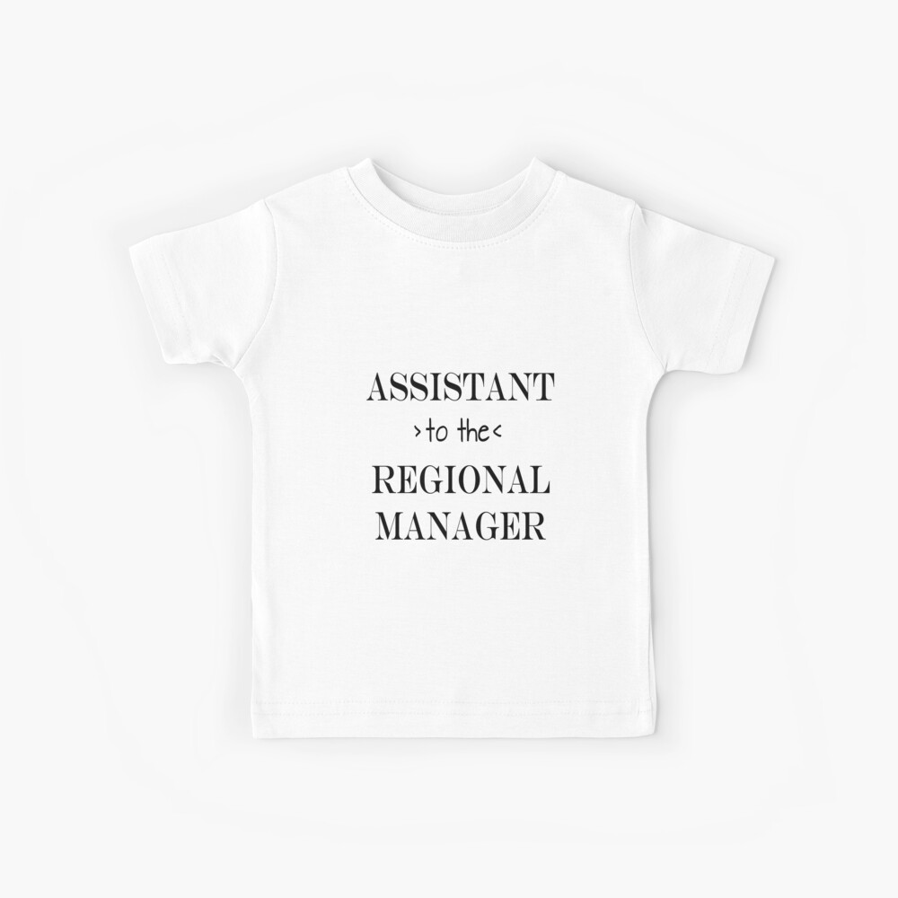 Assistant (to the) Regional Manager Kids T-Shirt